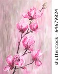 Magnolia Flowers. Picture Of...