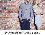 angry young woman standing next ... | Shutterstock . vector #646811557