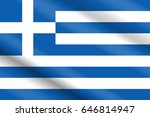 flag of greece in real...