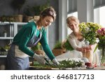 young woman working in modern...   Shutterstock . vector #646817713