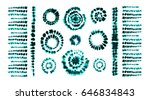 set of tie dye art brushes.... | Shutterstock .eps vector #646834843