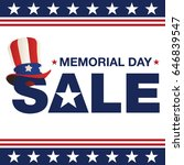 memorial day sale | Shutterstock .eps vector #646839547