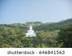 white buddha on the mountain ...   Shutterstock . vector #646841563