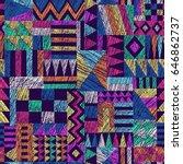 multicolor vector seamless... | Shutterstock .eps vector #646862737