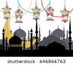 ramadan kareem. greeting card.... | Shutterstock . vector #646866763