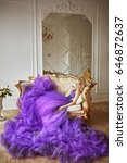 girl in violet dress   Shutterstock . vector #646872637