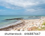 small sea barrier made of... | Shutterstock . vector #646887667