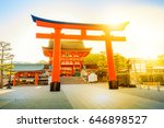 a giant torii gate in front of... | Shutterstock . vector #646898527
