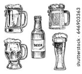 beer hand drawn set | Shutterstock .eps vector #646903363