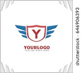y letter brand identity. falcon ... | Shutterstock .eps vector #646906393