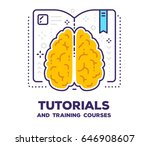 vector illustration of brain... | Shutterstock .eps vector #646908607