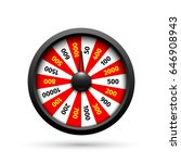 wheel of fortune on white... | Shutterstock .eps vector #646908943