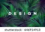 bright tropical background with ... | Shutterstock .eps vector #646914913