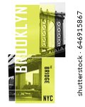 photo print brooklyn bridge... | Shutterstock . vector #646915867