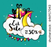 eid sale with upto 50  off ... | Shutterstock .eps vector #646917043