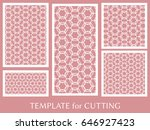 decorative panels set for laser ... | Shutterstock .eps vector #646927423