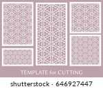 decorative panels set for laser ... | Shutterstock .eps vector #646927447