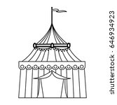 circus tent tops. outline... | Shutterstock .eps vector #646934923