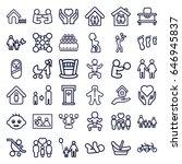 family icons set. set of 36... | Shutterstock .eps vector #646945837