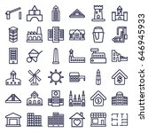 building icons set. set of 36... | Shutterstock .eps vector #646945933