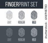 fingerprints icons set for...   Shutterstock .eps vector #646948783