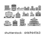 set of urban and suburban... | Shutterstock .eps vector #646964563