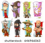 cartoon cool funny different... | Shutterstock .eps vector #646966063