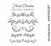 flourishes. hand drawn dividers ... | Shutterstock . vector #646966387