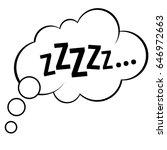 sleep comic bubble zzz vector...   Shutterstock .eps vector #646972663