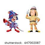 firefighter's character  people ... | Shutterstock . vector #647002087