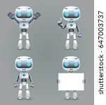 robot different poses... | Shutterstock .eps vector #647003737