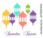 vector design for ramadan... | Shutterstock .eps vector #647004343