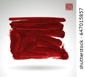 red brush stroke and texture.... | Shutterstock .eps vector #647015857