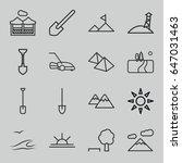 landscape icons set. set of 16... | Shutterstock .eps vector #647031463