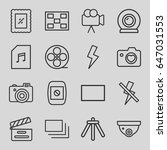 camera icons set. set of 16... | Shutterstock .eps vector #647031553