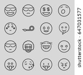 funny icons set. set of 16... | Shutterstock .eps vector #647031577