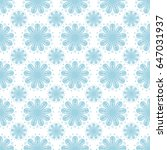 seamless pattern with flower... | Shutterstock .eps vector #647031937