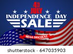 fourth of july usa independence ... | Shutterstock .eps vector #647035903
