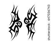 tattoo tribal vector designs.... | Shutterstock .eps vector #647036743