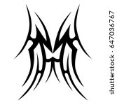 tribal tattoo art designs....   Shutterstock .eps vector #647036767