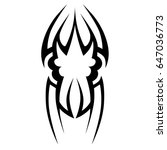 tribal tattoo art designs.... | Shutterstock .eps vector #647036773