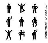 man people various standing... | Shutterstock .eps vector #647055367