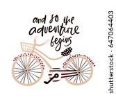 and so the adventure begins... | Shutterstock .eps vector #647064403