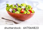 Vegetable Salad. Spring...