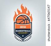 basketball sport logo template...   Shutterstock .eps vector #647065147