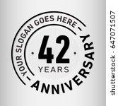 42 years anniversary logo... | Shutterstock .eps vector #647071507