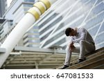 stress and crying business man... | Shutterstock . vector #647081533