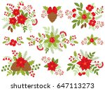 Vector Christmas Floral...