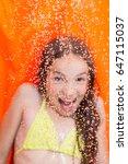 shallow dof photo of rain drops ...   Shutterstock . vector #647115037