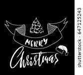 hand drawn phrase merry... | Shutterstock .eps vector #647125243